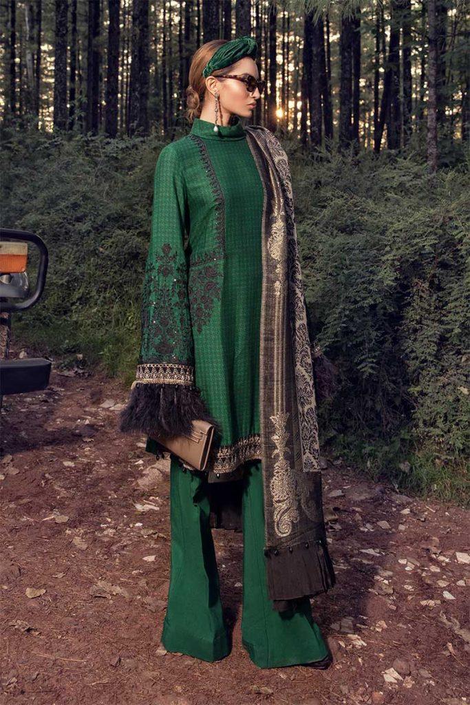 green suit Maria B Linen