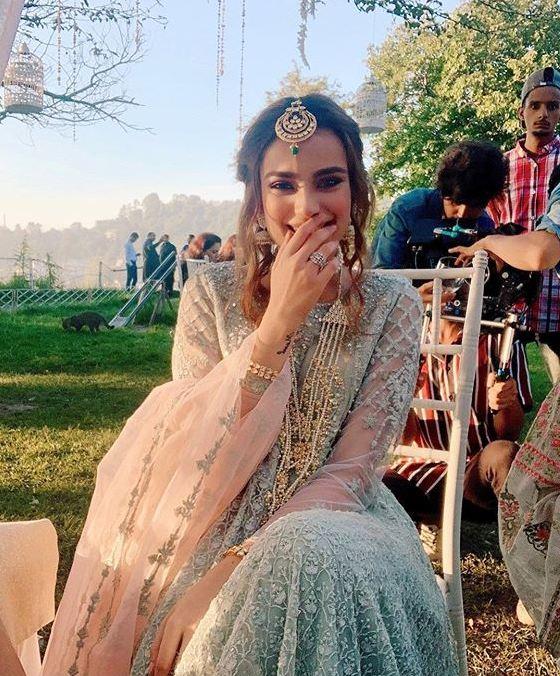 alyzeh gabol wearing maria b