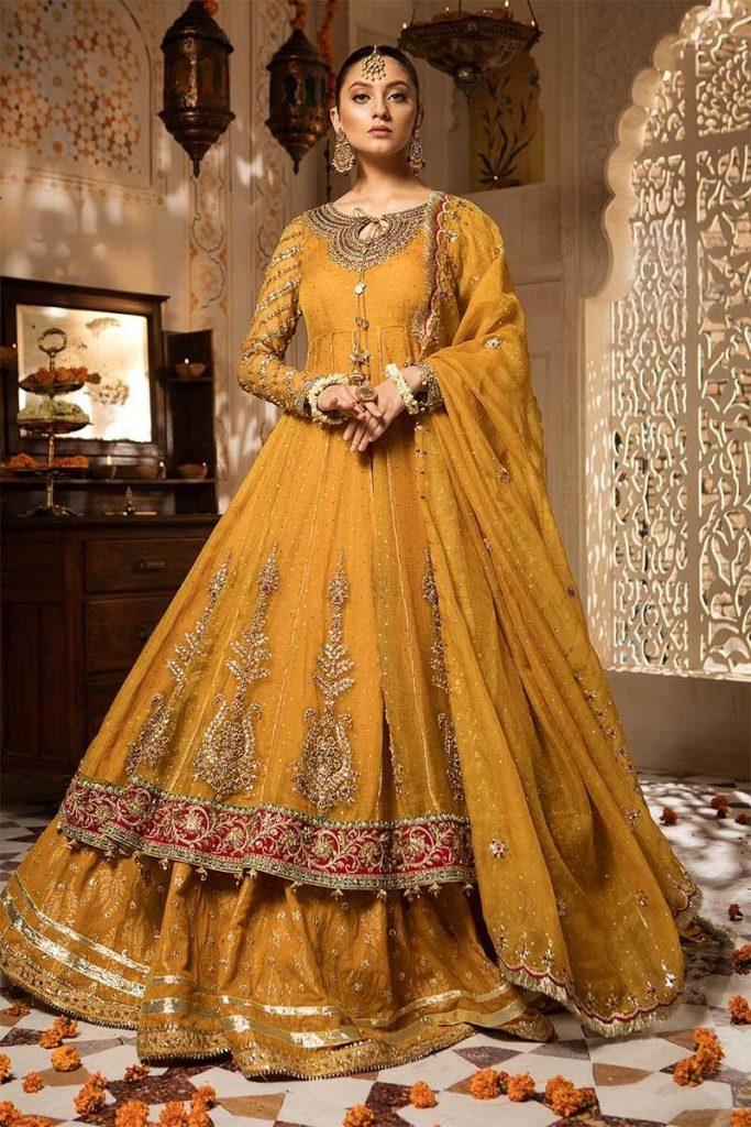 Maria B mehndi dresses