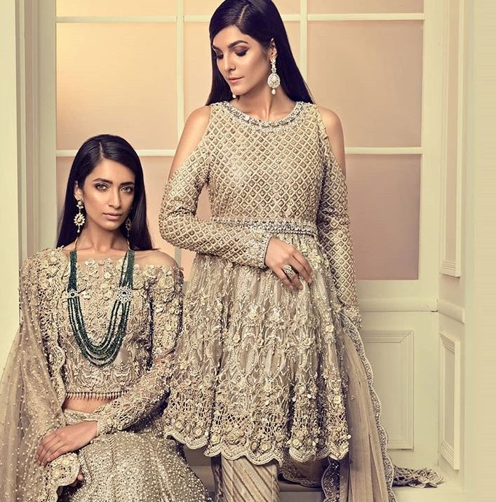 maria b cold shoulder lehnga