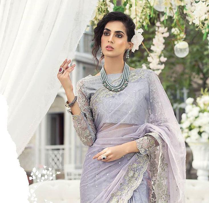 Maria b latest saree