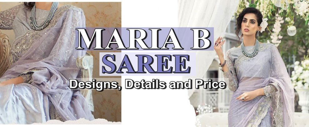 latest maria b saree designs