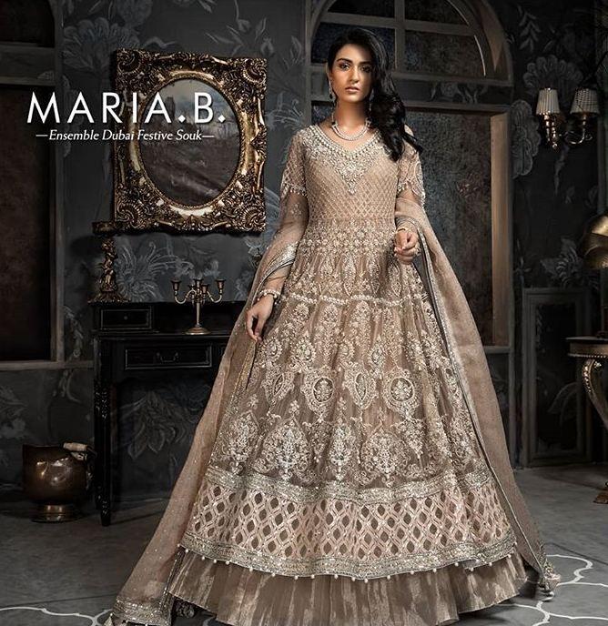 maria b bridal lehnga