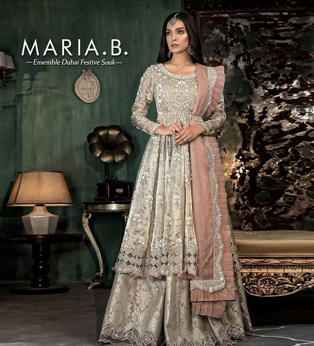 maria b silver dress