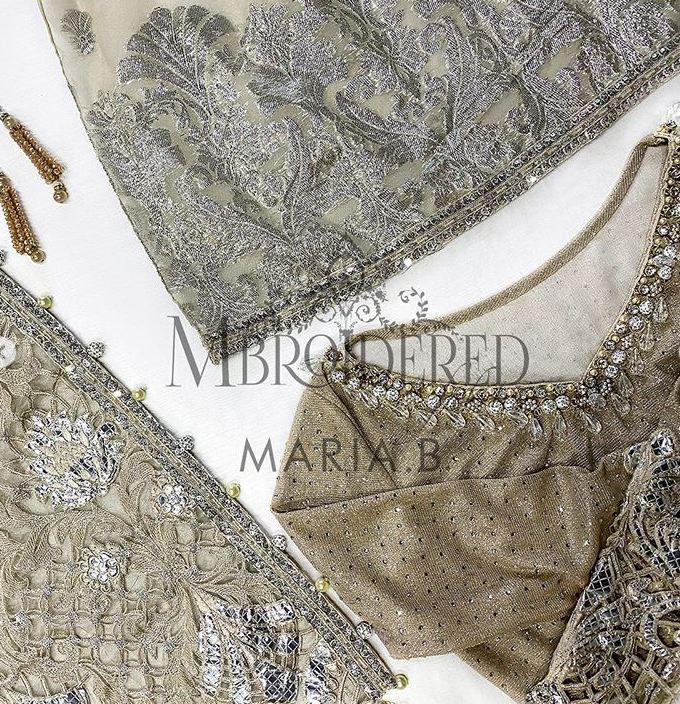 Mbroidered Maria B Saree