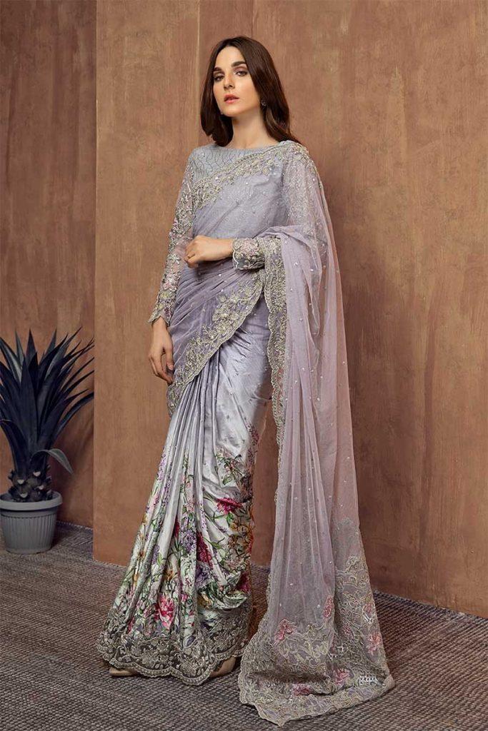 Lilac Maria B Saree