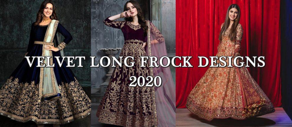velvet frock designs