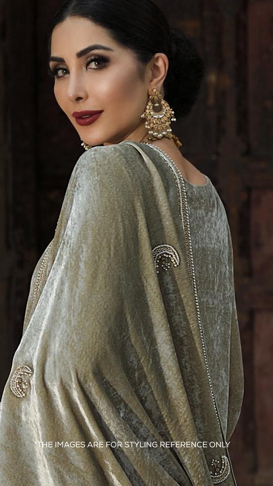 beige nishatlinen shawl