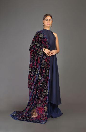 embroidered bareeze shawls