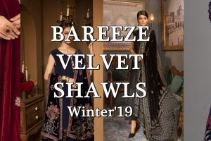 bareeze velvet shawls cover