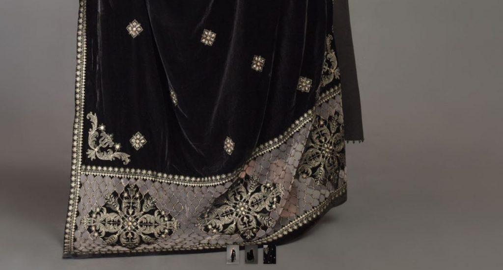 Bareeze Black Velvet Shawl