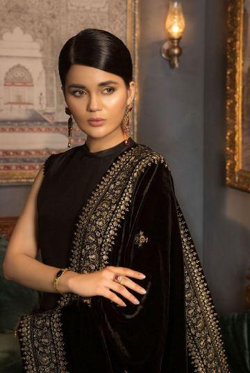 bareeze black shawl