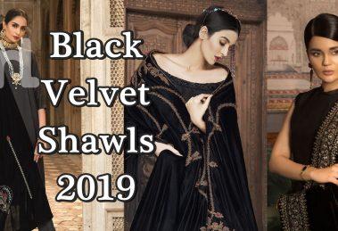 velvet black shawl