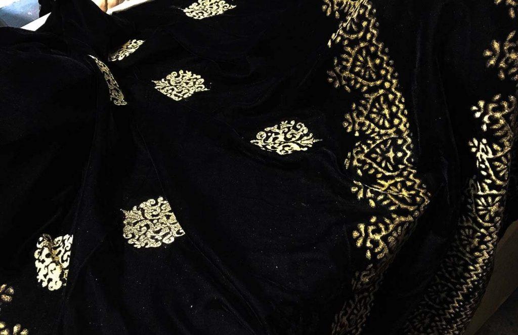block printed shawls