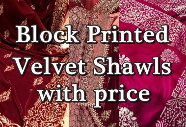 velvet shawls with price