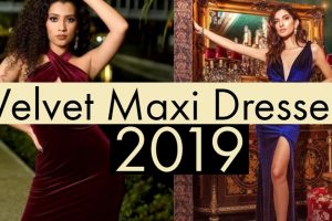 latest velvet maxi dress online