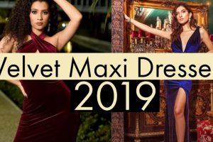 latest velvet maxi dress online