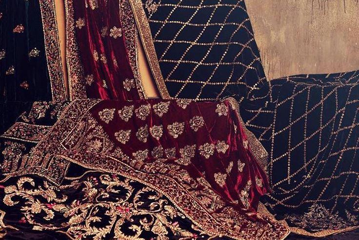 designer bridal shawl