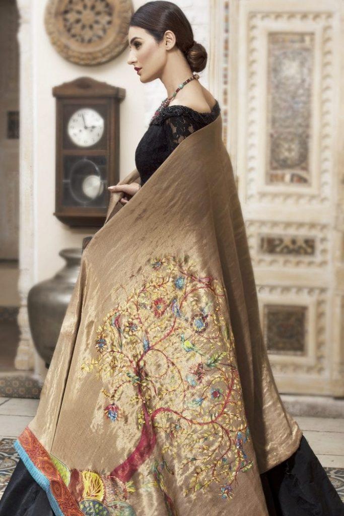 nilofar shahid velvet shawls