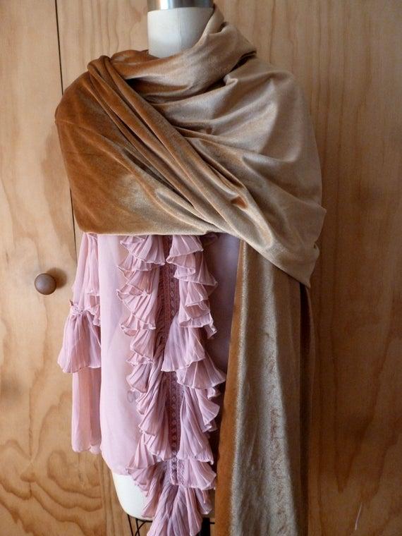 plain velvet shawl