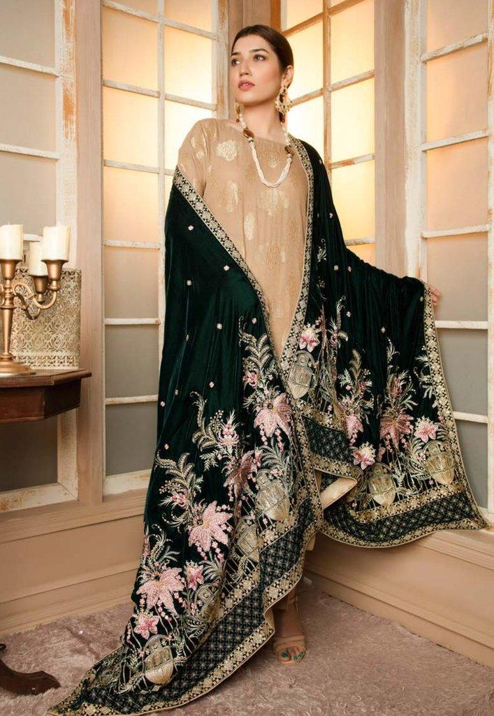 Banarasi velvet shawl