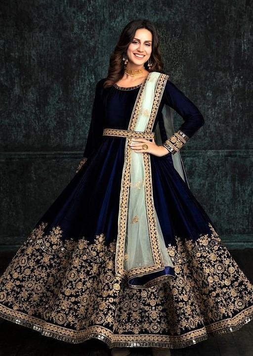 Pakistani velvet dresses