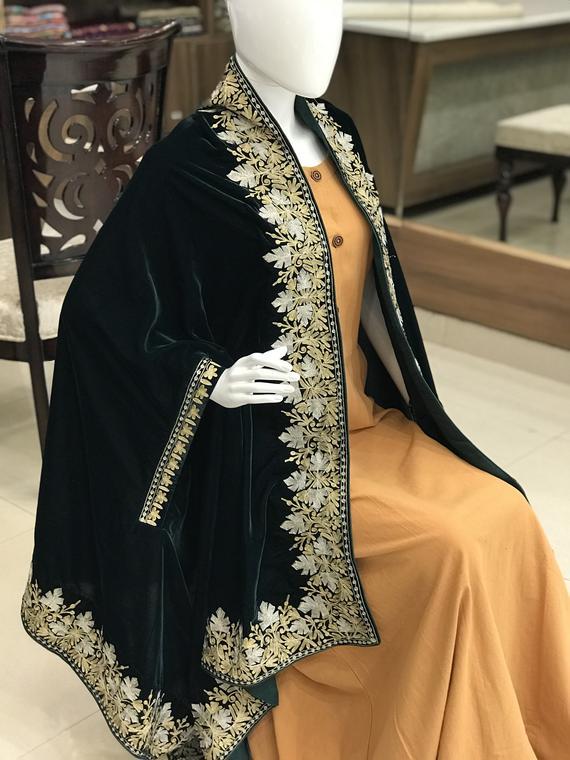 velvet cape shawls