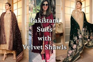velvet shawl pakistan