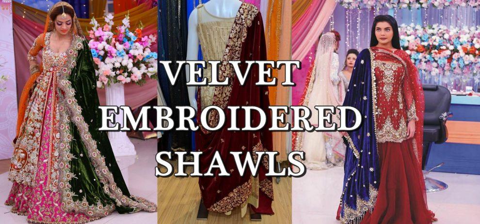 velvet embroidered shawls