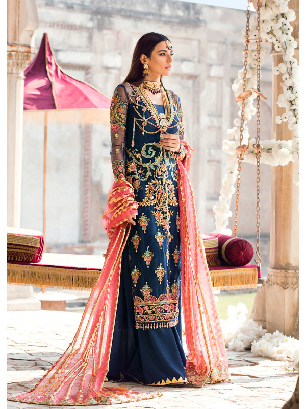 gulaal embroidered chiffon