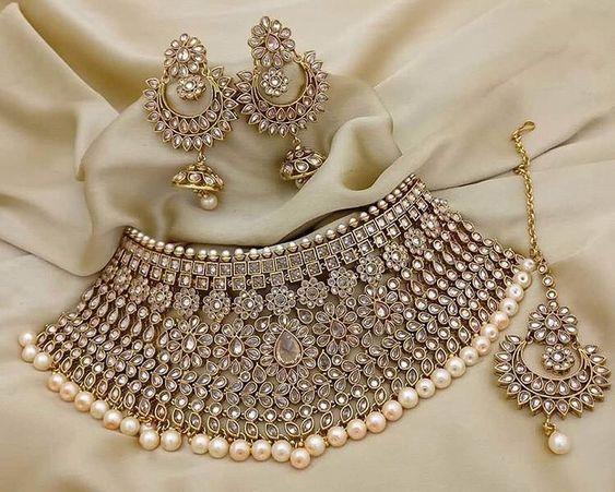 heavy bridal kundan jewellery