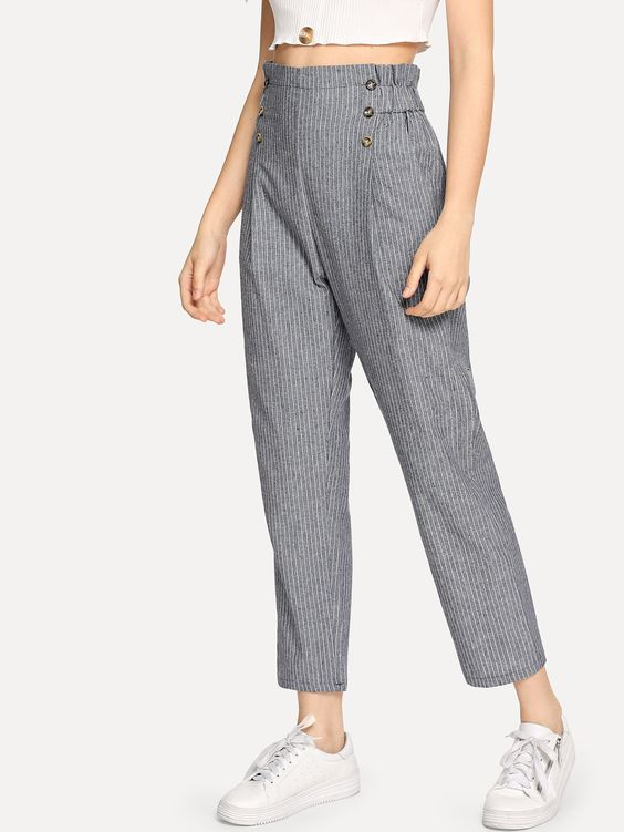 High Waist Pants Jeans