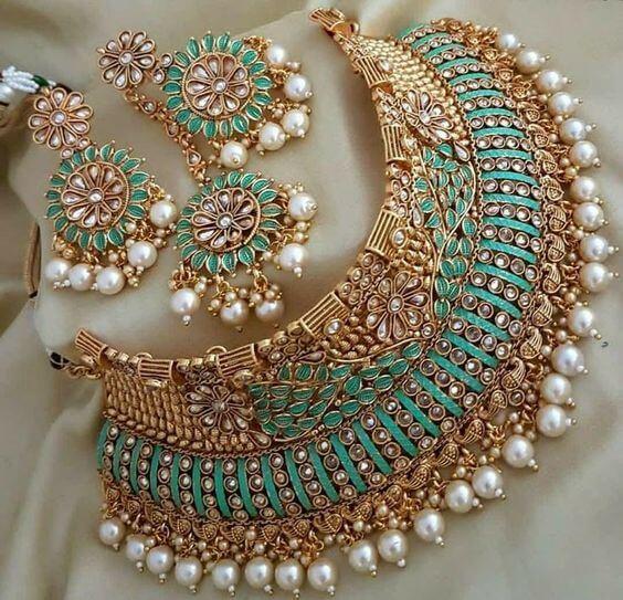 Bridal Jewellery Set Gold