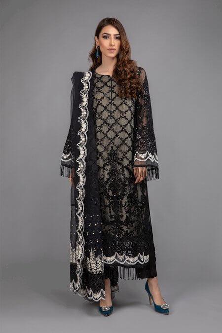 Maria B Black Formal Dress