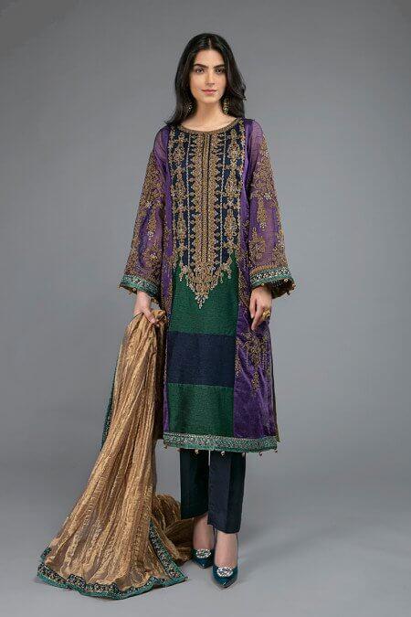 Maria B Purple Dress