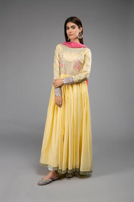 Maria B Yellow Suit