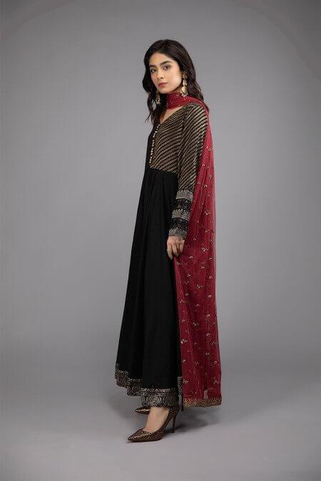 Black Frock Dress Pakistani