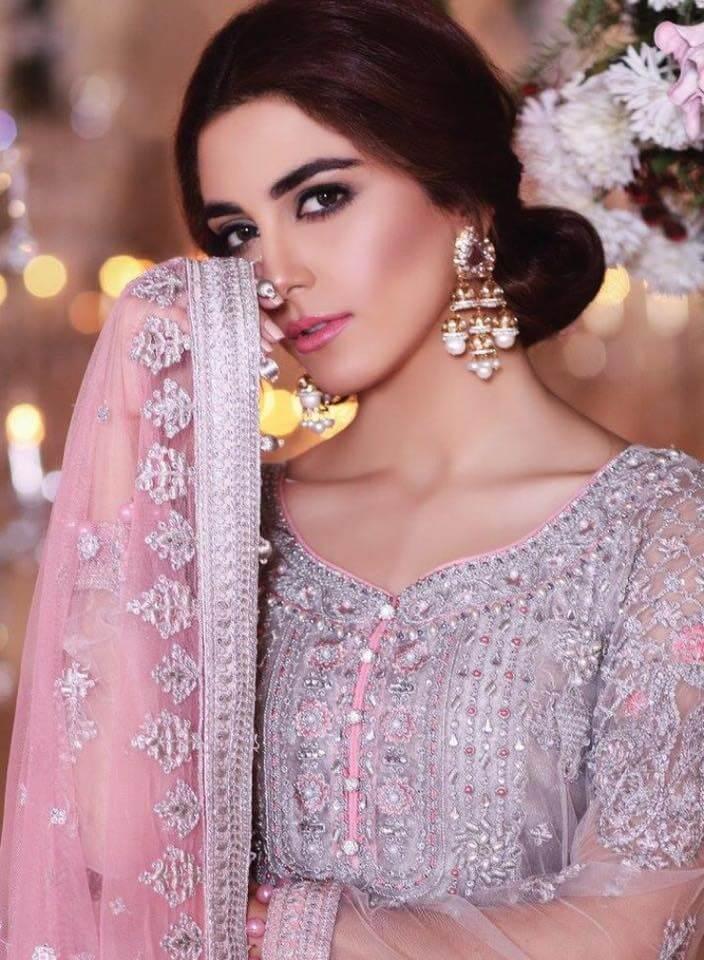 Model Maya Ali Eid dress Maria B