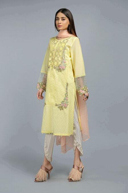 Maria B Yellow Dress