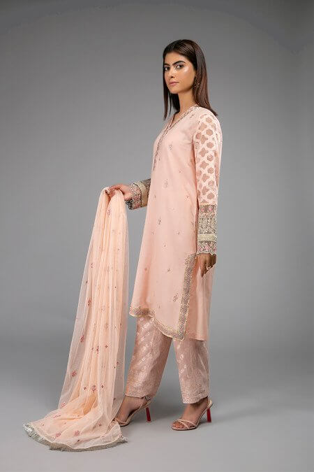 Peach Dress Design