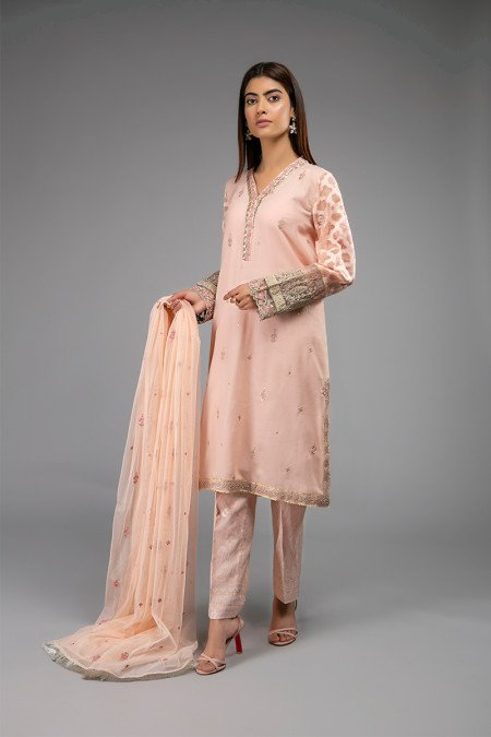Peach Dress Combination