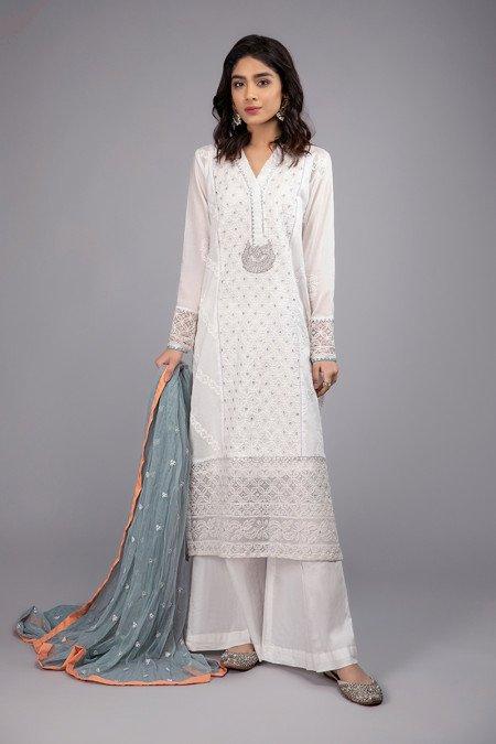 Pakistani White Dresses