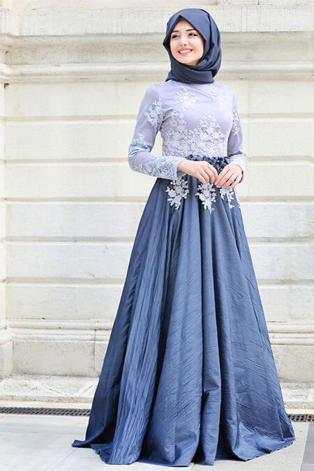 party wear long skirt dresses with hijab