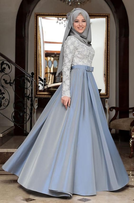 party wear long skirts for islamic women