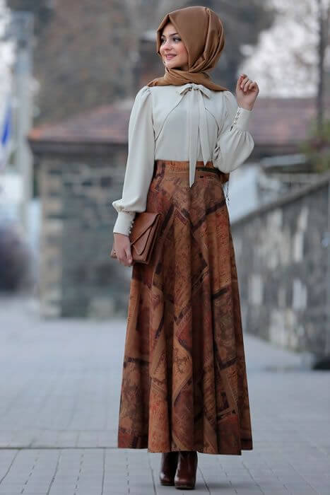 islamic pleated skirt