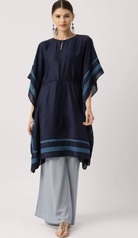 kaftan style dress with trouser