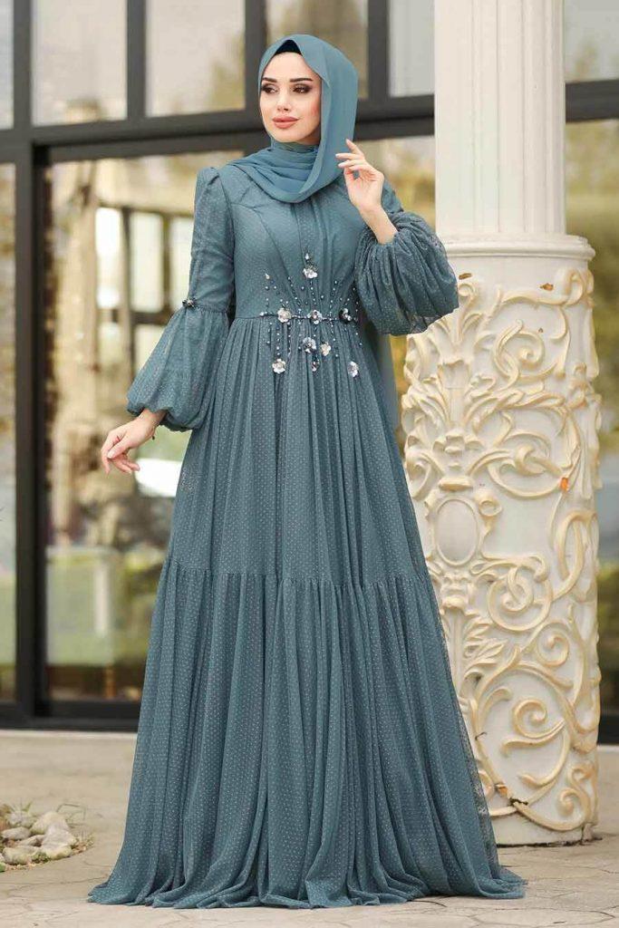 islamic velvet maxi dress