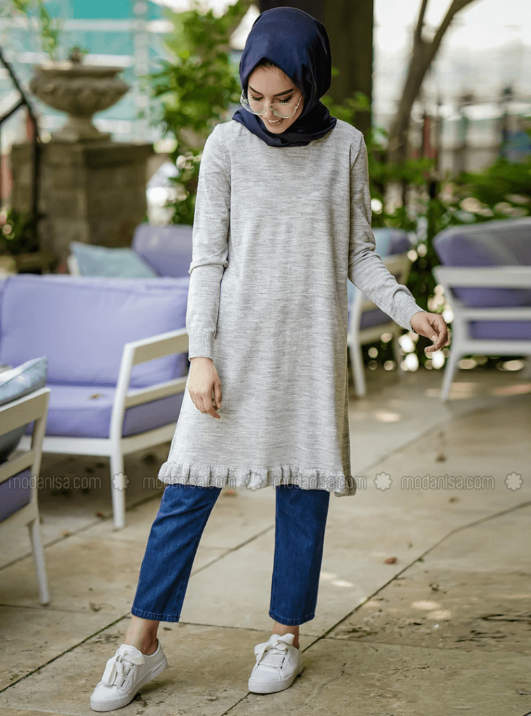 tunics with jeans and hijab