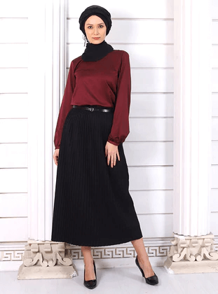 skirts and blouse ideas for women with hijab