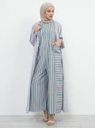 islamic jumpsuit with coat